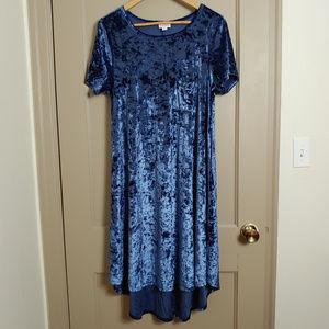 Lularoe Velvet Carly High Low Shift Dress